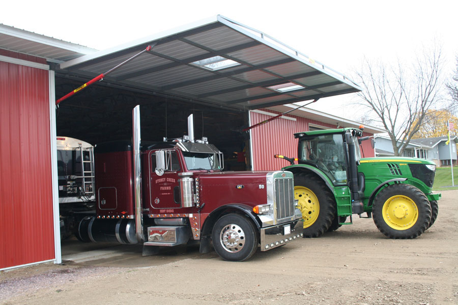 hydraulic door great for trucks and tractors