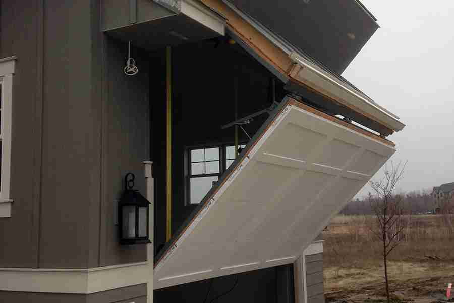 hidden bifold rv garage door