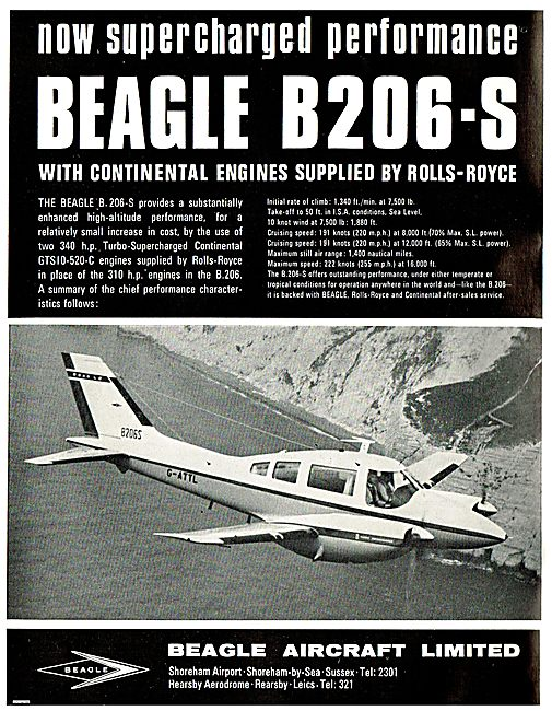 Original Beagle B206-S ad from magazine